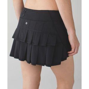 lululemon athletica Skirts - Lulu Pace Setter Skirt Black Skort Tennis Running